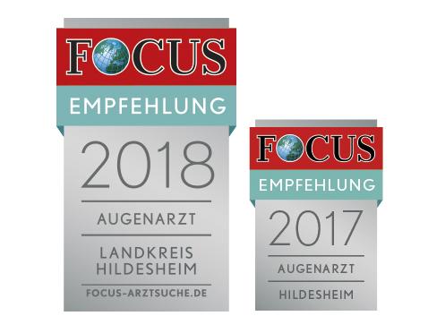 FOCUS Empfehlung 2017 und 2018
